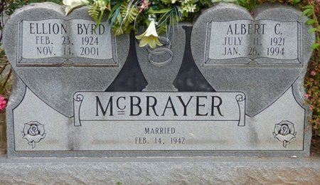 BYRD MCBRAYER, ELLION - Colbert County, Alabama | ELLION BYRD MCBRAYER - Alabama Gravestone Photos