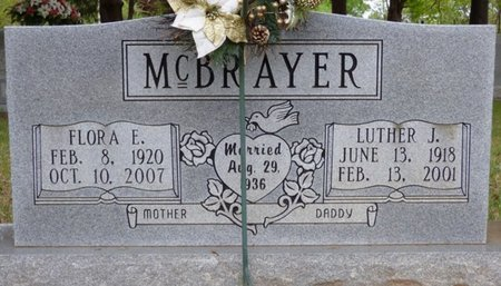 MCBRAYER, FLORA E - Colbert County, Alabama | FLORA E MCBRAYER - Alabama Gravestone Photos