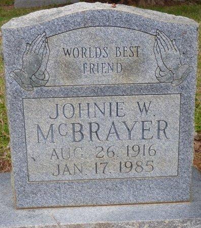 MCBRAYER, JOHNIE W - Colbert County, Alabama | JOHNIE W MCBRAYER - Alabama Gravestone Photos
