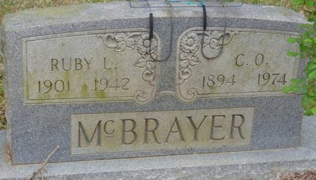 MITCHELL MCBRAYER, RUBY LILLE - Colbert County, Alabama | RUBY LILLE MITCHELL MCBRAYER - Alabama Gravestone Photos