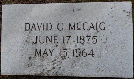 MCCAIG, DAVID C - Colbert County, Alabama | DAVID C MCCAIG - Alabama Gravestone Photos