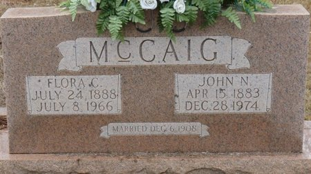 CORNELIUS MCCAIG, FLORA VICTORIA - Colbert County, Alabama | FLORA VICTORIA CORNELIUS MCCAIG - Alabama Gravestone Photos