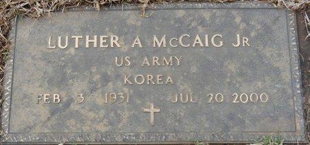 MCCAIG JR. (VETERAN KOREA), LUTHER A - Colbert County, Alabama | LUTHER A MCCAIG JR. (VETERAN KOREA) - Alabama Gravestone Photos