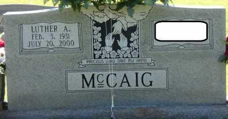 MCCAIG JR., LUTHER A - Colbert County, Alabama   LUTHER A MCCAIG JR. - Alabama Gravestone Photos