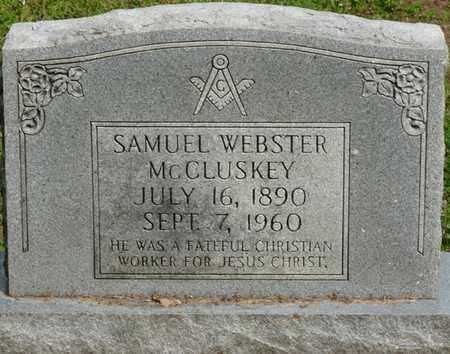MCCLUSKEY, SAMUEL WEBSTER - Colbert County, Alabama | SAMUEL WEBSTER MCCLUSKEY - Alabama Gravestone Photos