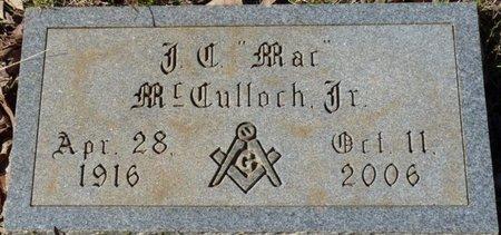 "MCCULLOCH JR., J.C. ""MAC"" - Colbert County, Alabama | J.C. ""MAC"" MCCULLOCH JR. - Alabama Gravestone Photos"