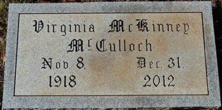 MCKINNEY MCCULLOCH, VIRGINIA - Colbert County, Alabama   VIRGINIA MCKINNEY MCCULLOCH - Alabama Gravestone Photos
