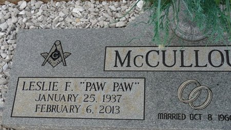 "MCCULLOUGH, LESLIE F ""PAW PAW"" - Colbert County, Alabama 