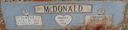 MCDONALD, LORINE L - Colbert County, Alabama | LORINE L MCDONALD - Alabama Gravestone Photos