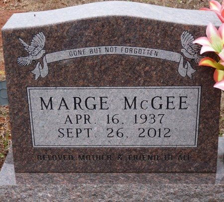 MCGEE, MARGE - Colbert County, Alabama | MARGE MCGEE - Alabama Gravestone Photos