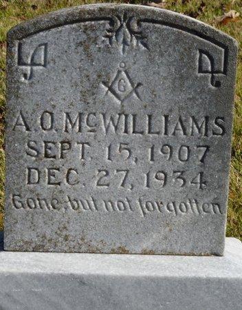 MCWILLIAMS, ALVIN O - Colbert County, Alabama | ALVIN O MCWILLIAMS - Alabama Gravestone Photos