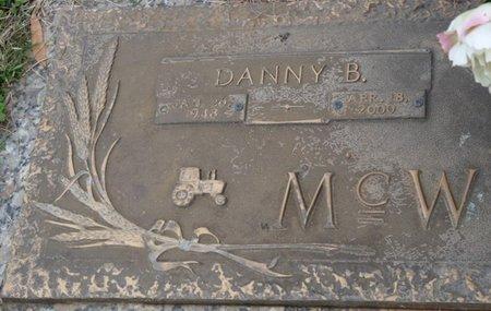 MCWILLIAMS, DANNY B - Colbert County, Alabama | DANNY B MCWILLIAMS - Alabama Gravestone Photos