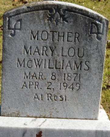 MCWILLIAMS, MARY LOU - Colbert County, Alabama | MARY LOU MCWILLIAMS - Alabama Gravestone Photos