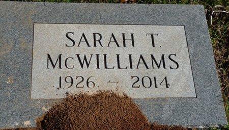 MCWILLIAMS, SARAH T - Colbert County, Alabama | SARAH T MCWILLIAMS - Alabama Gravestone Photos
