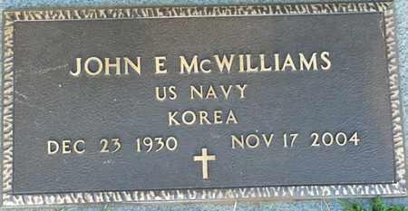 MCWILLIAMS (VETERAN KOREA), JOHN E - Colbert County, Alabama | JOHN E MCWILLIAMS (VETERAN KOREA) - Alabama Gravestone Photos
