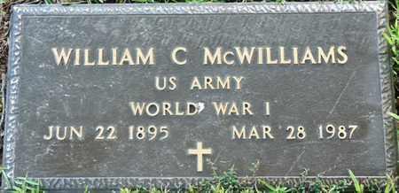 MCWILLIAMS (VETERAN WWI), WILLIAM C - Colbert County, Alabama   WILLIAM C MCWILLIAMS (VETERAN WWI) - Alabama Gravestone Photos
