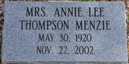 MENZIE, ANNIE LEE - Colbert County, Alabama   ANNIE LEE MENZIE - Alabama Gravestone Photos