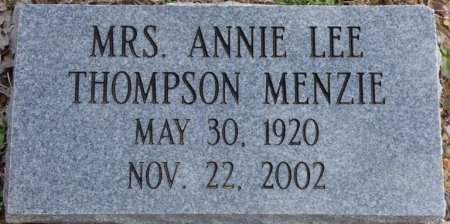 THOMPSON MENZIE, ANNIE LEE - Colbert County, Alabama | ANNIE LEE THOMPSON MENZIE - Alabama Gravestone Photos