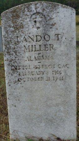 MILLER (VETERAN), LANDO T - Colbert County, Alabama | LANDO T MILLER (VETERAN) - Alabama Gravestone Photos