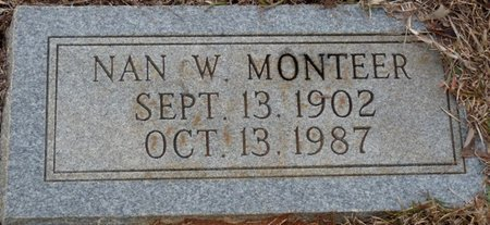 "MONTEER, NANCIE W ""NAN"" - Colbert County, Alabama | NANCIE W ""NAN"" MONTEER - Alabama Gravestone Photos"