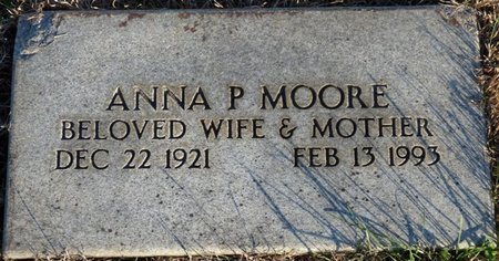 MOORE, ANNA PATRICIA - Colbert County, Alabama | ANNA PATRICIA MOORE - Alabama Gravestone Photos