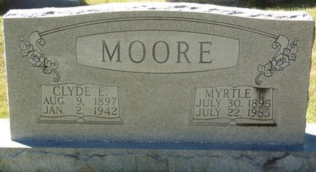 MOORE, CLYDE E - Colbert County, Alabama | CLYDE E MOORE - Alabama Gravestone Photos