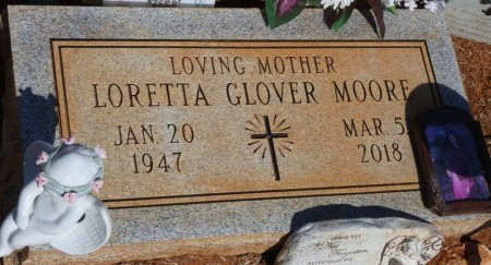 GLOVER MOORE, LORETTA - Colbert County, Alabama | LORETTA GLOVER MOORE - Alabama Gravestone Photos