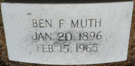 MUTH, BEN F - Colbert County, Alabama | BEN F MUTH - Alabama Gravestone Photos