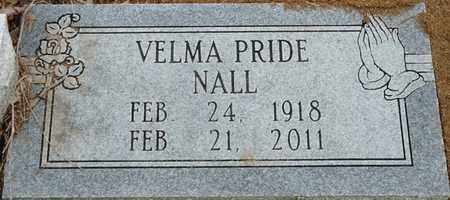PRIDE NALL, VELMA - Colbert County, Alabama | VELMA PRIDE NALL - Alabama Gravestone Photos