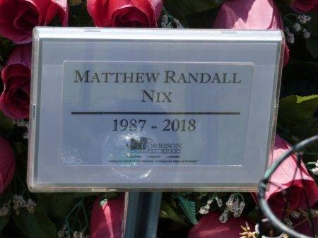 NIX, MATTHEW RANDALL - Colbert County, Alabama | MATTHEW RANDALL NIX - Alabama Gravestone Photos