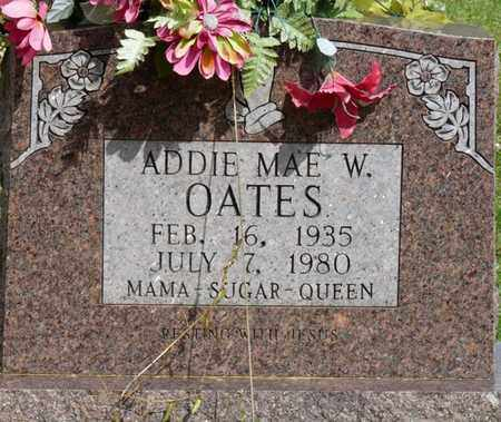 OATES, ADDIE MAE W. - Colbert County, Alabama   ADDIE MAE W. OATES - Alabama Gravestone Photos