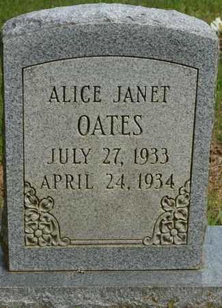 OATES, ALICE JANET - Colbert County, Alabama   ALICE JANET OATES - Alabama Gravestone Photos