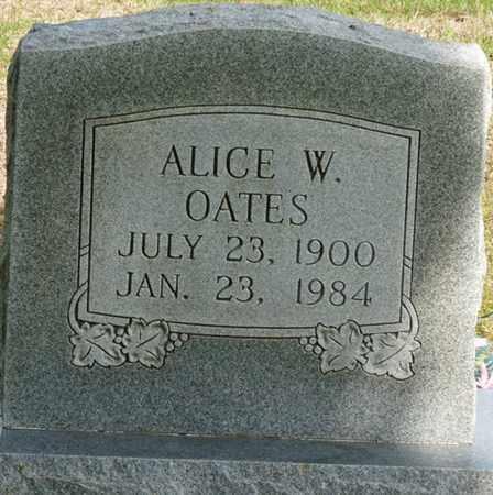 OATES, ALICE W - Colbert County, Alabama   ALICE W OATES - Alabama Gravestone Photos