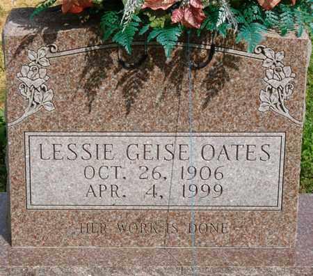OATES, LESSIE GEISE - Colbert County, Alabama   LESSIE GEISE OATES - Alabama Gravestone Photos