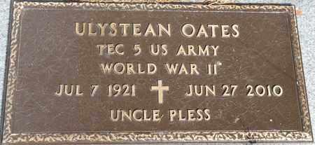 "OATES (VETERAN WWII), ULYSTEAN ""UNCLE PLESS"" - Colbert County, Alabama | ULYSTEAN ""UNCLE PLESS"" OATES (VETERAN WWII) - Alabama Gravestone Photos"