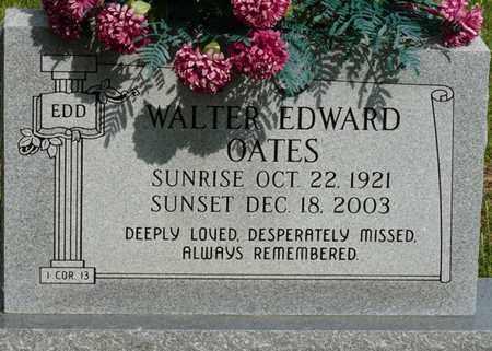 OATES, WALTER EDWARD - Colbert County, Alabama | WALTER EDWARD OATES - Alabama Gravestone Photos