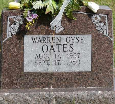 OATES, WARREN GYSE - Colbert County, Alabama | WARREN GYSE OATES - Alabama Gravestone Photos