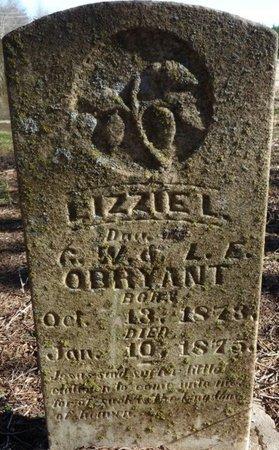 O'BRYANT, LIZZIE L - Colbert County, Alabama | LIZZIE L O'BRYANT - Alabama Gravestone Photos