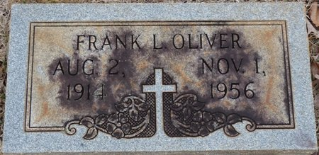OLIVER, FRANK LEONARD - Colbert County, Alabama   FRANK LEONARD OLIVER - Alabama Gravestone Photos