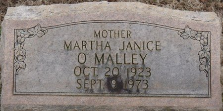 O'MALLEY, MARTHA JANICE - Colbert County, Alabama   MARTHA JANICE O'MALLEY - Alabama Gravestone Photos