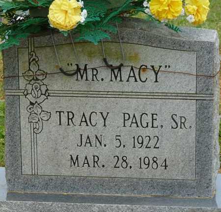 "PAGE SR., TRACY ""MR. MACY"" - Colbert County, Alabama | TRACY ""MR. MACY"" PAGE SR. - Alabama Gravestone Photos"