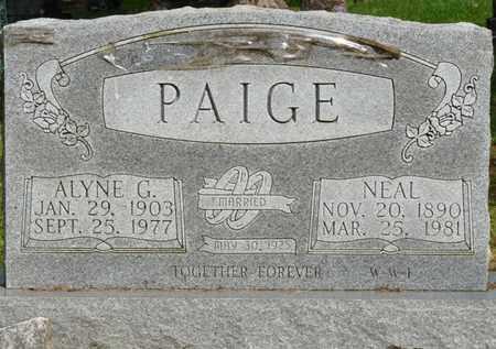 PAIGE, ALYNE G - Colbert County, Alabama   ALYNE G PAIGE - Alabama Gravestone Photos