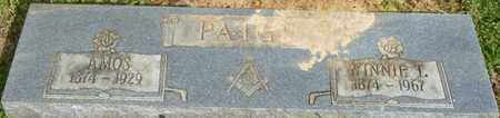 PAIGE, AMOS - Colbert County, Alabama | AMOS PAIGE - Alabama Gravestone Photos
