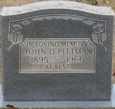 PITTMAN, JOHN O - Colbert County, Alabama | JOHN O PITTMAN - Alabama Gravestone Photos