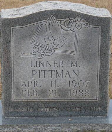 PITTMAN, LINNER M - Colbert County, Alabama | LINNER M PITTMAN - Alabama Gravestone Photos