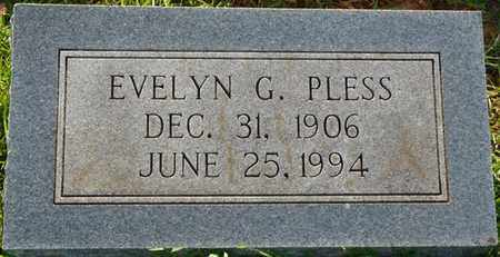 PLESS, EVELYN G - Colbert County, Alabama | EVELYN G PLESS - Alabama Gravestone Photos
