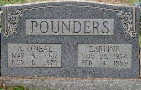 POUNDERS, A. O'NEAL - Colbert County, Alabama   A. O'NEAL POUNDERS - Alabama Gravestone Photos