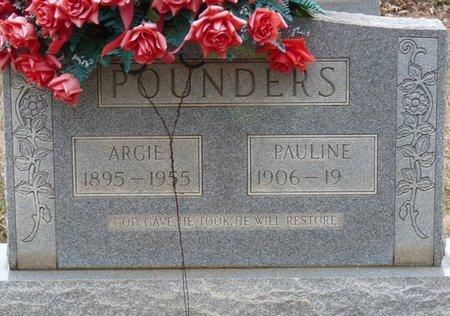 POUNDERS, ARGIE - Colbert County, Alabama | ARGIE POUNDERS - Alabama Gravestone Photos