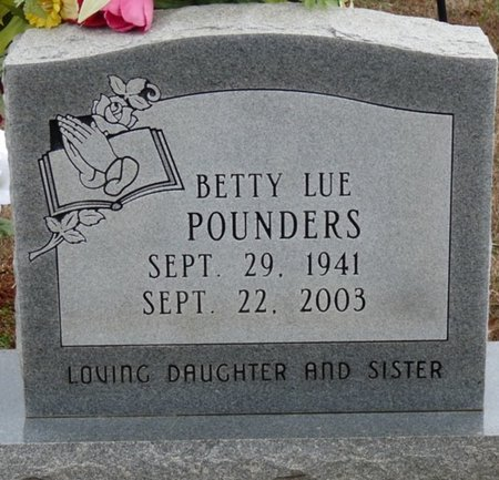 POUNDERS, BETTY LUE - Colbert County, Alabama | BETTY LUE POUNDERS - Alabama Gravestone Photos