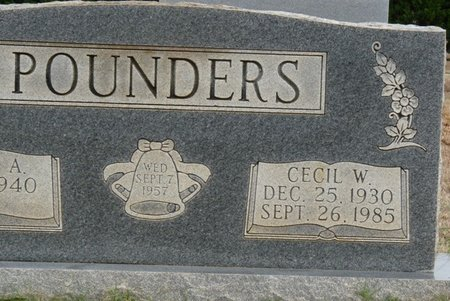 POUNDERS, CECIL W - Colbert County, Alabama   CECIL W POUNDERS - Alabama Gravestone Photos